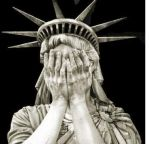 crying statue of liberty